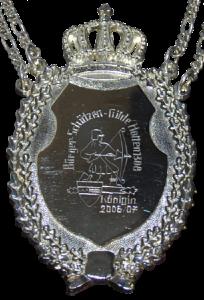 Silbernes Königinnen-Schild