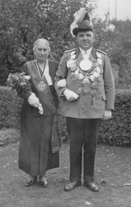 Königspaar 1934 Wilhelm Fernholz und G. Richels
