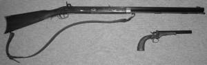 Vorderladergewehr und -pistole